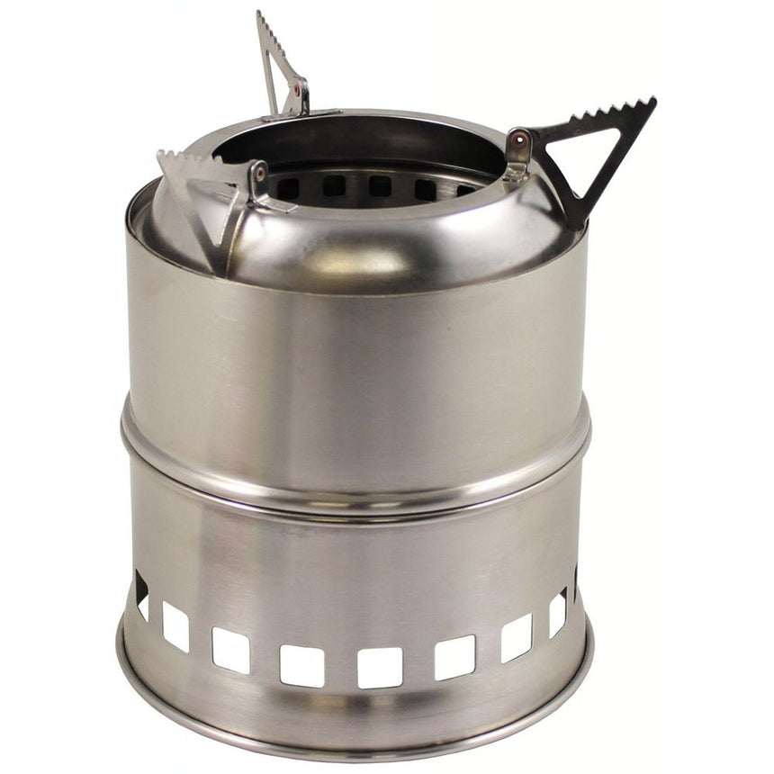 Forest Wood Gas Stove Stainless Steel