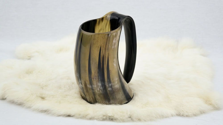 Genuine Natural Drinking Horn Tankard