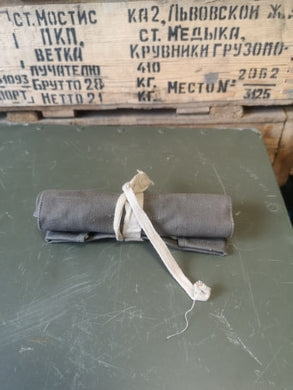 Swedish army tool roll bestick - Grey