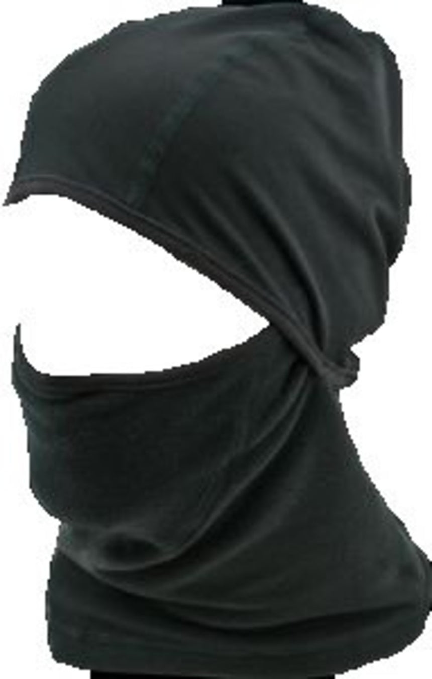 Black Military Thermal Fleece Headover With Helmet Liner