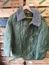 Load image into Gallery viewer, Hungarian Army Quilted Liner with Collar - Olive Green