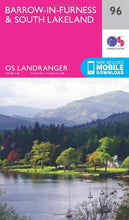 Load image into Gallery viewer, Barrow-In-Furness & South Lakeland OS Landranger 96