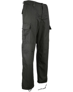 Special Ops Security Ripstop BDU M65 Trousers Black