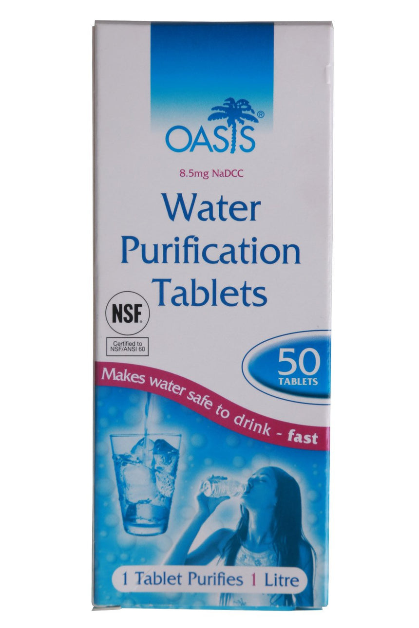 Water Purification Tablets 50 pk