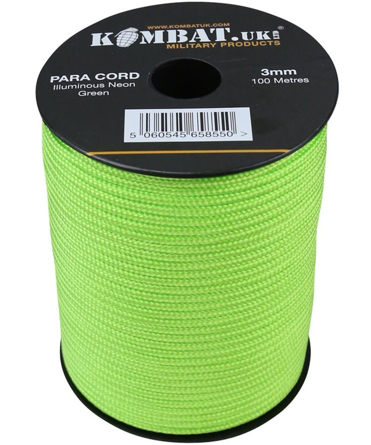 ParaCord on reel - 100m Neon Yellow/Green