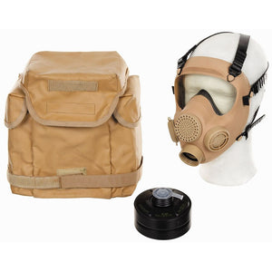 Polish army Mp5 Gas mask respirator and bag - desert