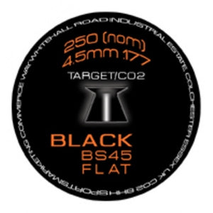 Flat Head Black .177 Pellets