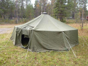 Swedish 12 Man Tipi Tent with wood stove