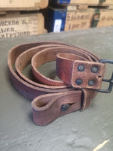 Load image into Gallery viewer, Genuine Swedish Army Mauser M98 / M38 Leather Sling