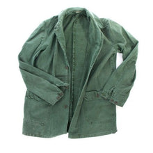 Load image into Gallery viewer, Swedish army vintage cotton work jacket