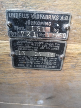 Vintage Swedish Army Sack Scales