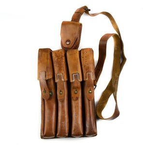 Yugoslavian Army SMG Leather Pouch and sling