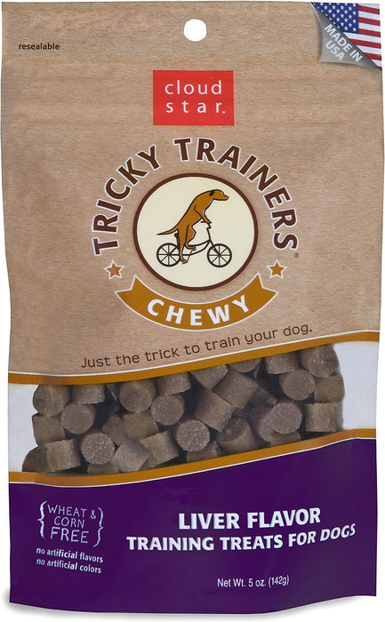 Cloud Star Chewy Tricky Trainers Liver Dog Treats