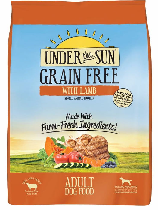 Under the Sun Grain Free Adult Formula with Farm Raised Lamb Dry Dog Food