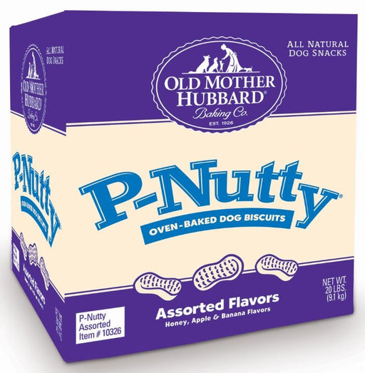 Old Mother Hubbard Crunchy Classic Natural P-Nutty Assorted Flavor Dog Biscuits