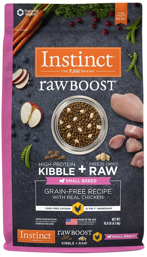 Nature's Variety Instinct Raw Boost Small Breed Grain Free Recipe with Real Chicken Natural Dry Dog Food
