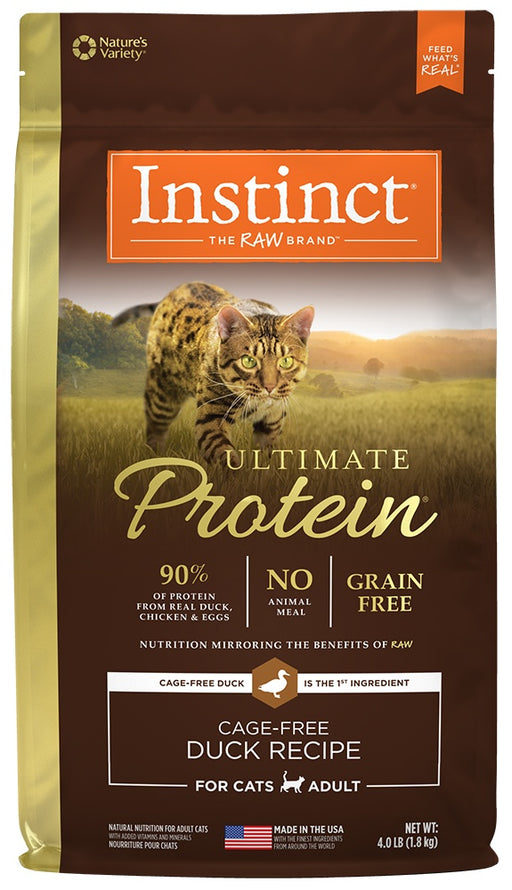 Nature's Variety Instinct Ultimate Protein Adult Grain Free Cage Free Duck Recipe Natural Dry Cat Food