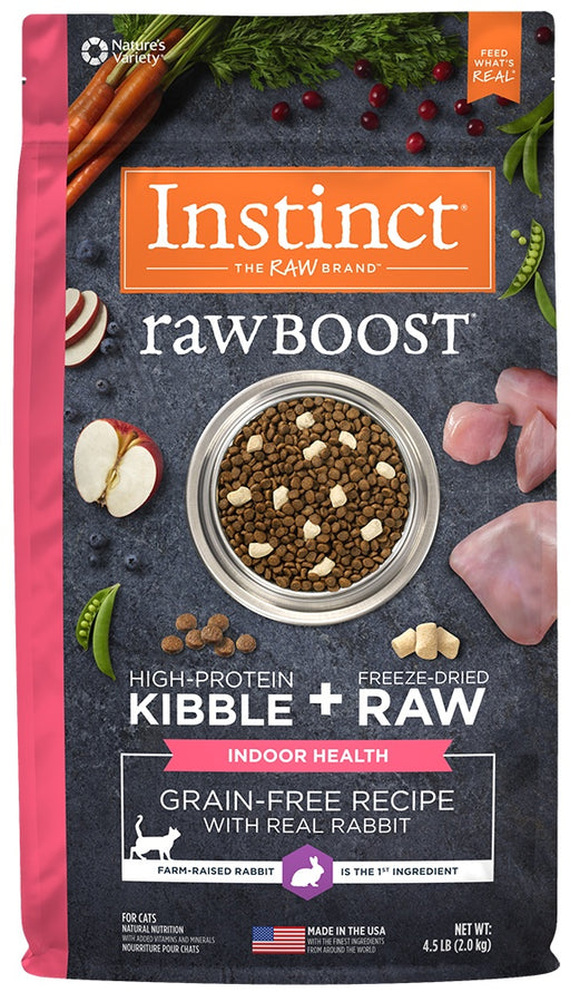 Nature's Variety Instinct Raw Boost Indoor Health Grain Free Recipe with Real Rabbit Natural Dry Cat Food