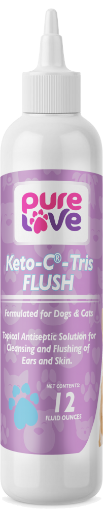 Pure Love Keto-C Tris Flush Topical Antiseptic Solution For Dogs and Cats