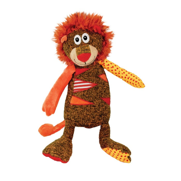 KONG Patches Lion Plush Dog Toy