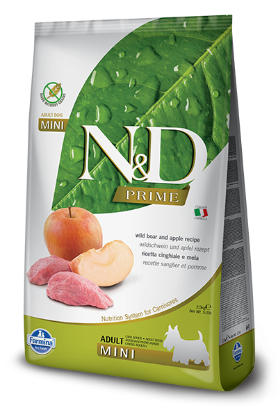 Farmina N&D Natural & Delicious Grain Free Mini Adult Wild Boar & Apple Dry Dog Food