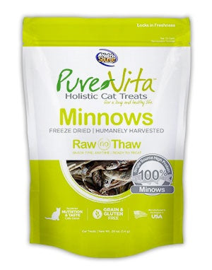 PureVita Grain Free Freeze Dried Minnows Delights Holistic Cat Treats