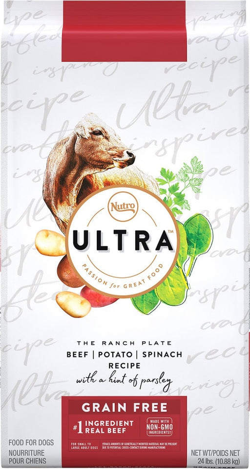 Nutro Ultra Adult Grain Free Beef, Potato, & Spinach Recipe Dry Dog Food