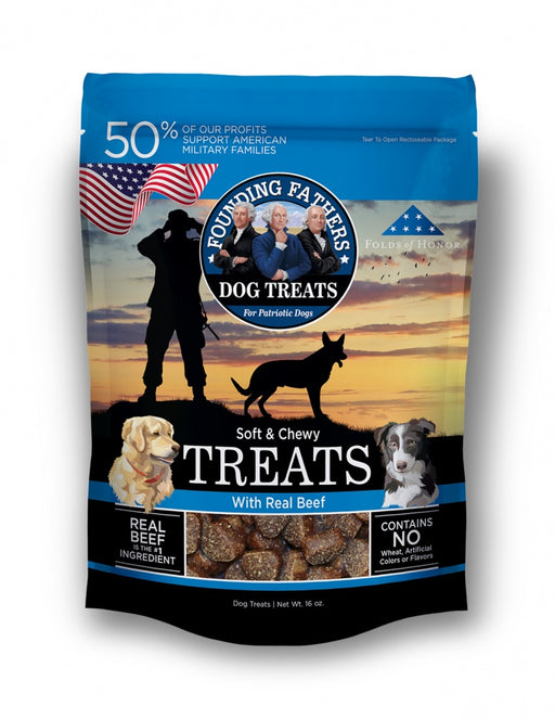 Founding Fathers Soft & Chewy Real Beef Dog Treats