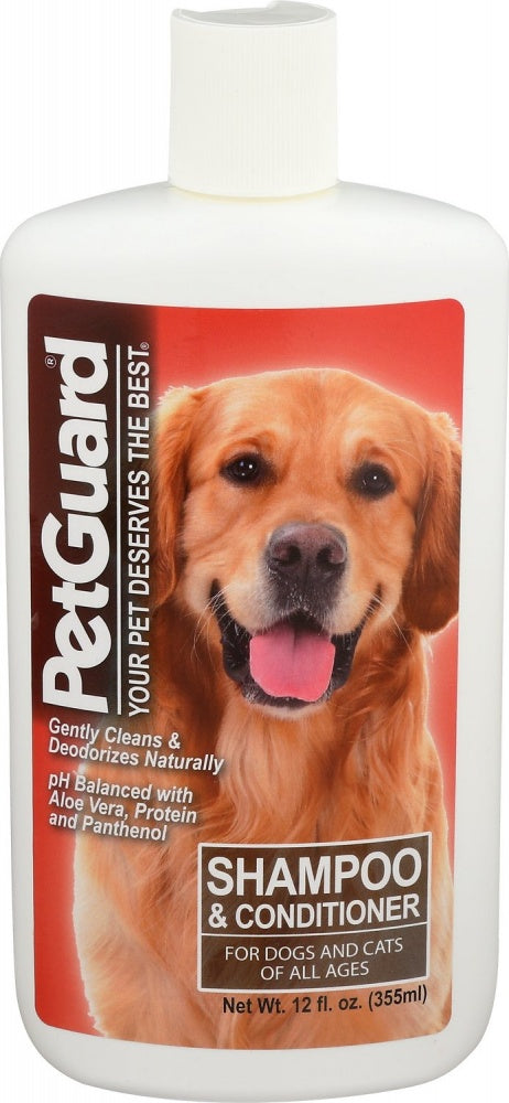 PetGuard Shampoo & Conditioner with Coconut Oil & Essential Oils For Dogs & Cats