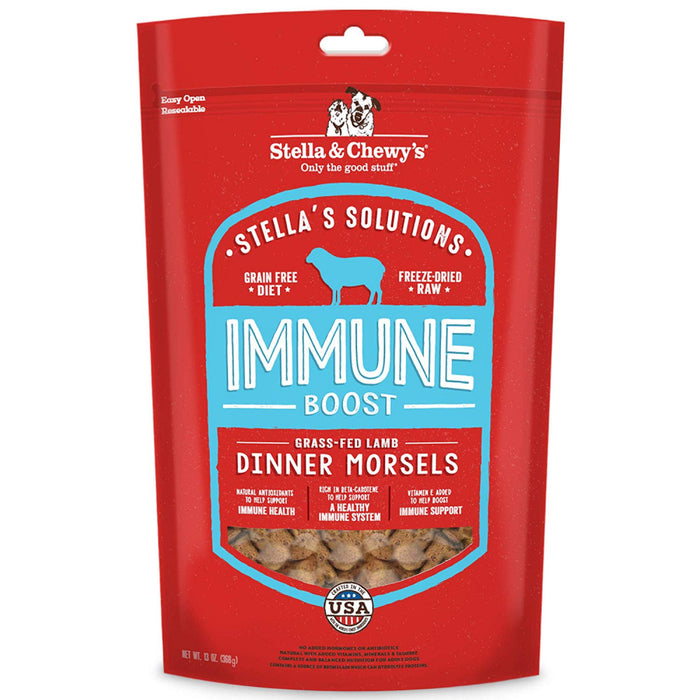 Stella & Chewy's Stella's Solutions Grain Free Immune Boost Grass Fed Lamb Dinner Morsels Freeze-Dried Raw Dog Food