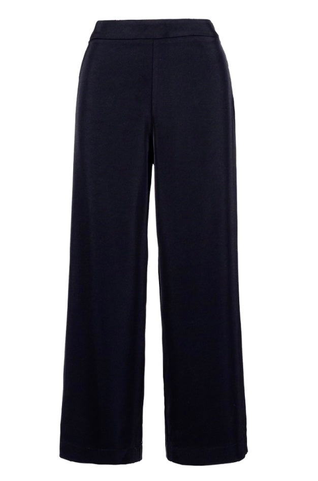 Straight leg ankle length trousers