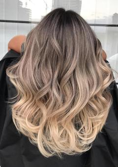 Change your Hairstyle with Dark Brown to Ash Blonde Curly Invisible Halo Hair Extension