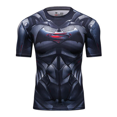 T-SHIRT COMPRESSION BATMAN VS SUPERMAN