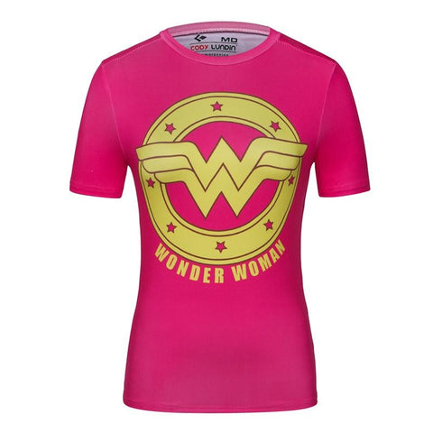 T-SHIRT COMPRESSION WONDER WOMAN