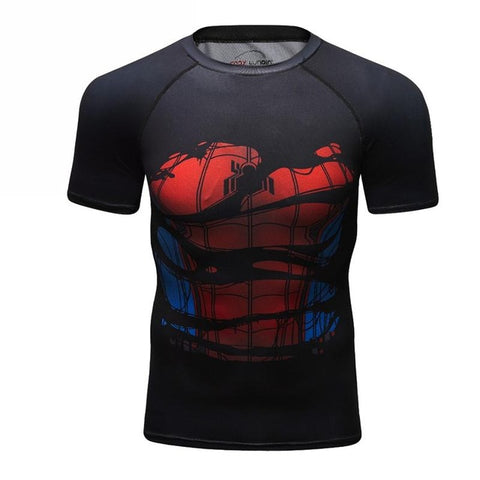 T-SHIRT COMPRESSION SPIDERMAN