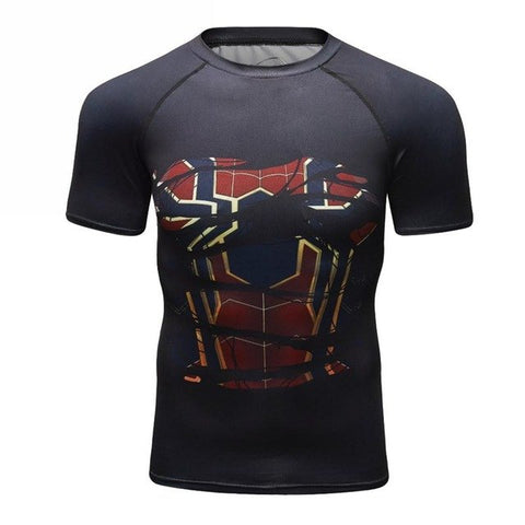 T-SHIRT COMPRESSION SPIDERMAN 2