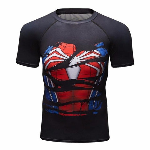 T-SHIRT COMPRESSION SPIDERMAN 3