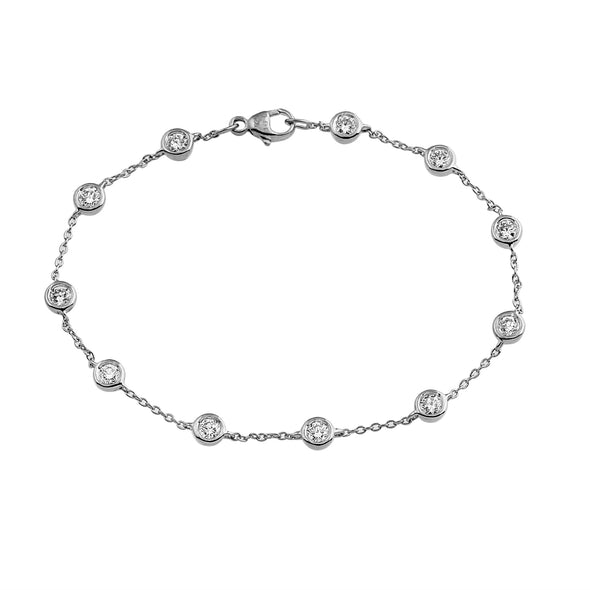 Phoenix Lab Grown Diamond Station Bracelet - Sterling