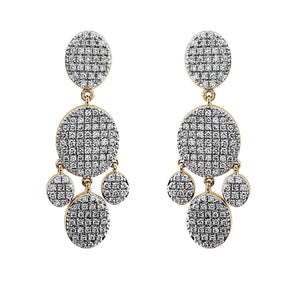 Blaze Lab Grown Diamond Chandelier Earrings - 14k Gold Over Sterling