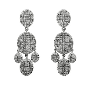 Blaze Lab Grown Diamond Chandelier Earrings -Sterling