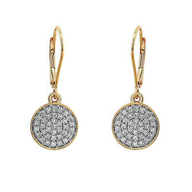 Blaze Lab Grown Diamond Dangle Earrings - 14k Gold Over Sterling