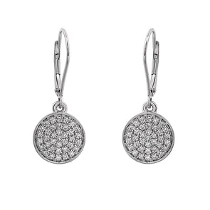 Blaze Lab Grown Diamond Dangle Earrings - Sterling