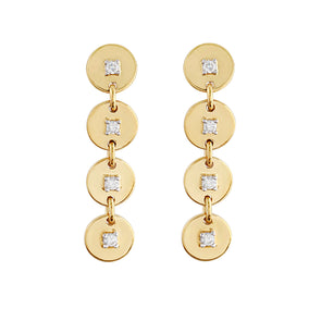 Phoenix Lab Grown Diamond Drop Earrings - 14k Gold Over Sterling