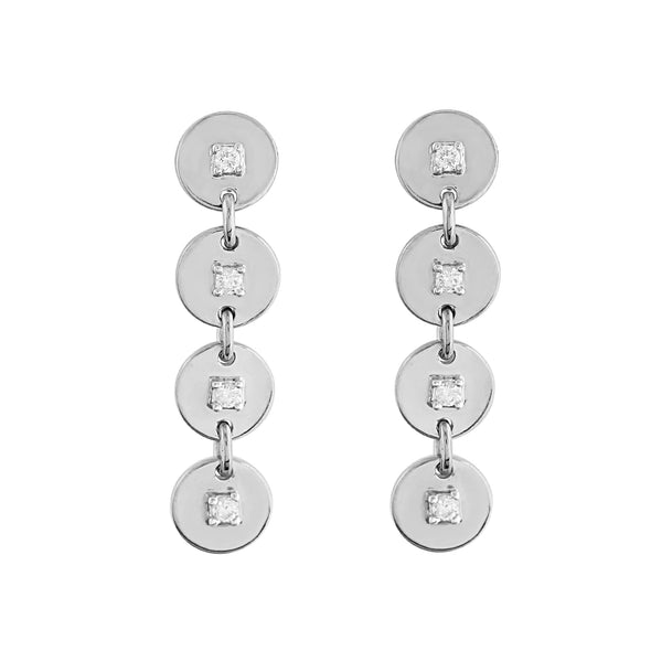 Phoenix Lab Grown Diamond Drop Earrings - Sterling
