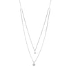 Blaze Double Drop Lab Grown Diamond Pendant - Sterling