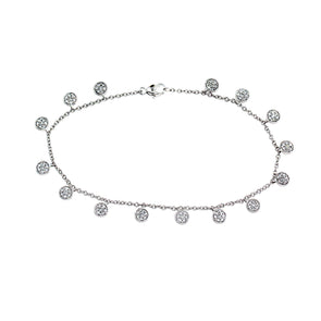 Blaze Lab Grown Diamond Dangle Bracelet - Sterling