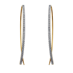 Halo Lab Grown Diamond Open Hoop Earrings - 14k Gold Over Sterling (.75 ct. tw.)