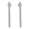 Flash Long Bar Lab-Grown Diamond Stud Earrings - Sterling Silver