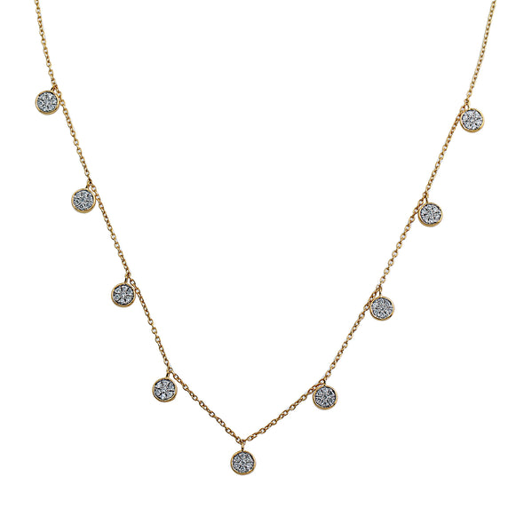 Blaze Lab Grown Diamond Dangle Necklace - 14k Gold Over Sterling