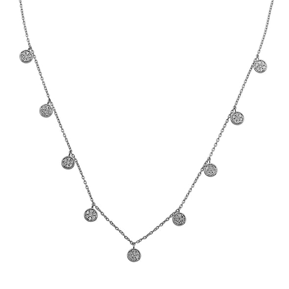 Blaze Lab Grown Diamond Dangle Necklace - Sterling